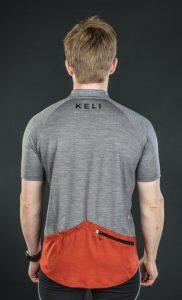 Keli long sleeve cycling jersey brick red