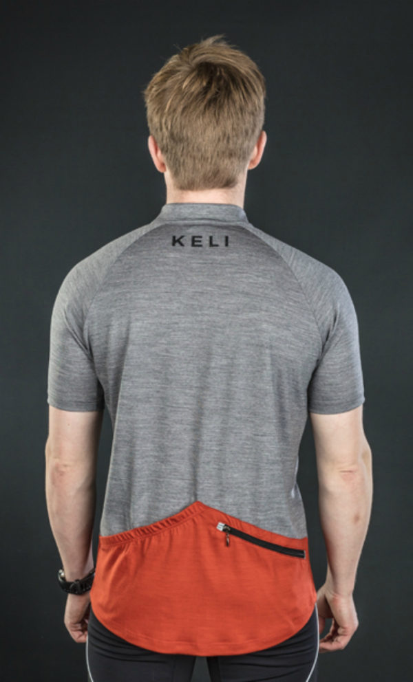 Keli long sleeve cycling jersey brick red
