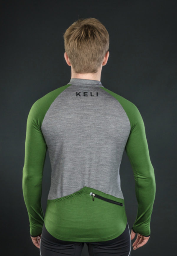Keli long sleeve cycling jersey moss green