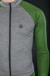 Keli long sleeve cycling jersey moss green