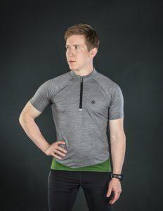 Keli short sleeve cycling jersey moss green