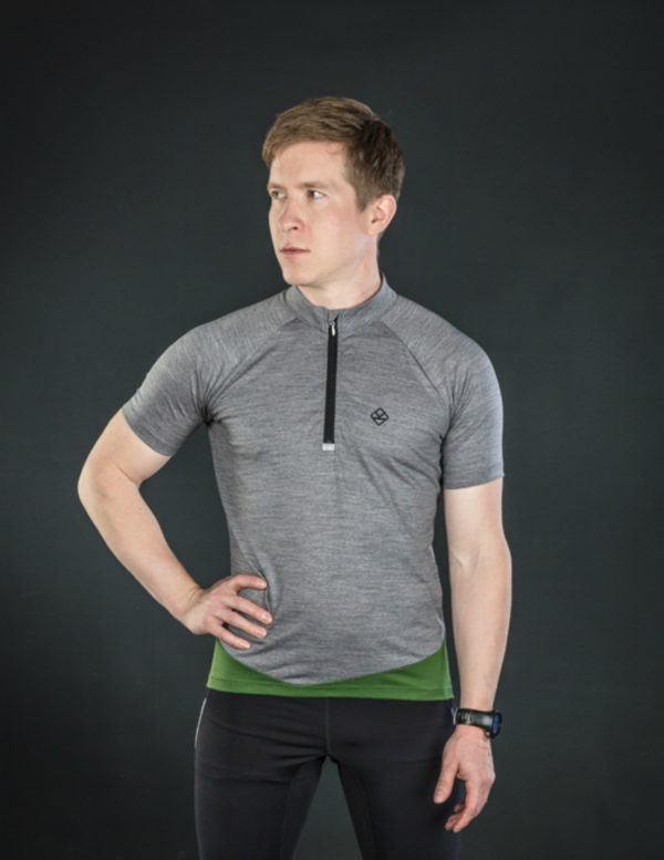Keli short sleeve cycling jersey moss green