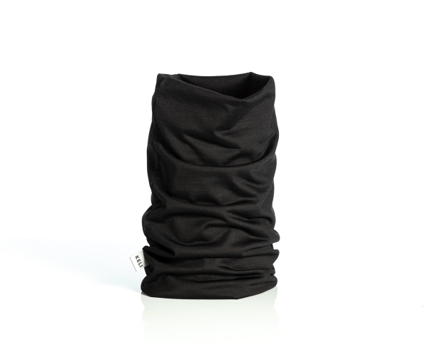 Merino wool tubescarf black
