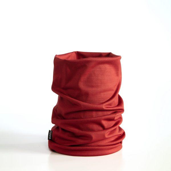 Tummanpunainen tuubihuivi