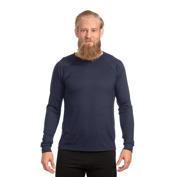 Keli long sleeve merino wool shirt Mustikka