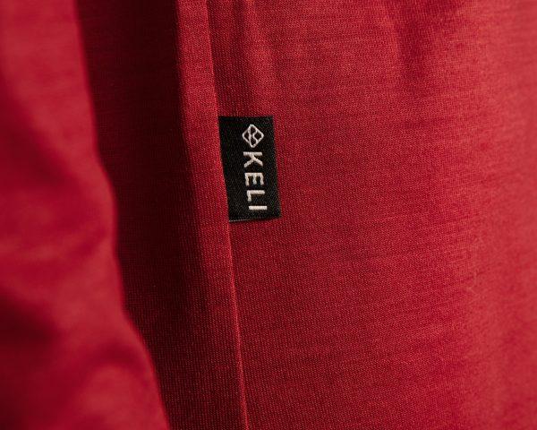 Keli merinovilla pitkähihainen paita yksityiskohta