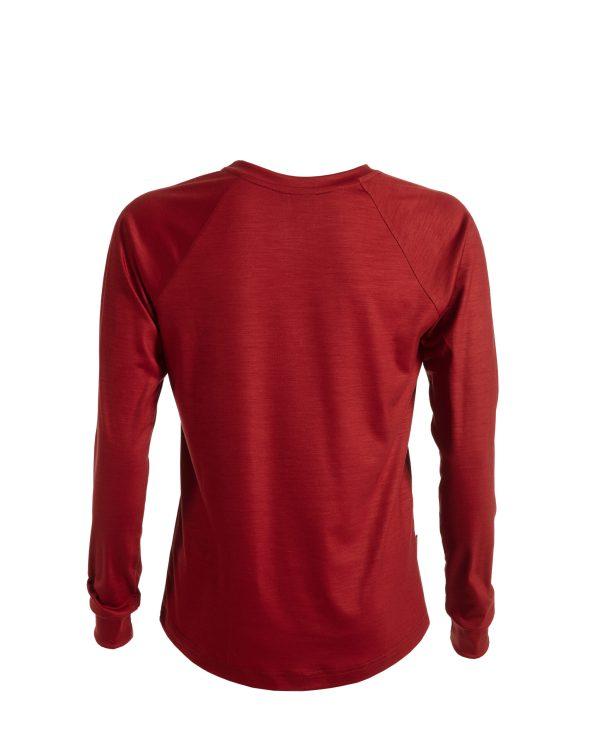 Keli merinovilla pitkähihainen paita punainen