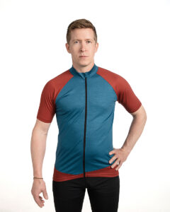 Keli merino wool cycling shirt