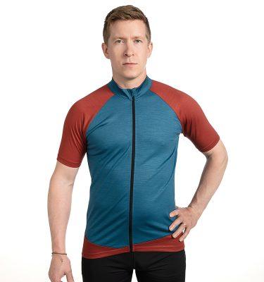 Keli merino wool cycling shirt